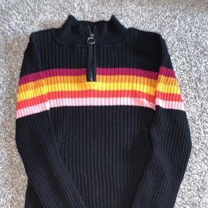 Black striped long sleeve